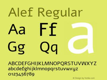 Alef Regular Version 1.002;PS 001.002;hotconv 1.0.56;makeotf.lib2.0.21325图片样张