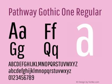 Pathway Gothic One Regular Version 1.002图片样张