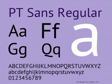 PT Sans Regular Version 2.003图片样张