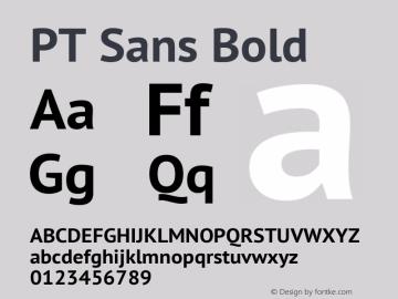 PT Sans Bold Version 2.003图片样张
