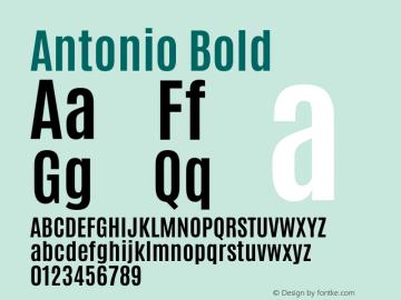 Antonio Bold Version 1图片样张