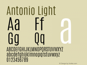 Antonio Light Version 1图片样张