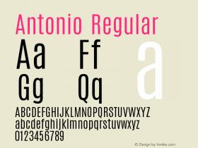 Antonio Version 1.001;PS 001.001;hotconv 1.0.70;makeotf.lib2.5.58329图片样张