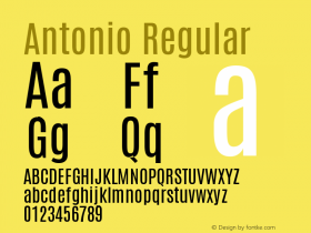 Antonio Regular Version 1图片样张