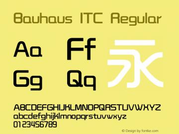 Bauhaus ITC Version 1.20图片样张