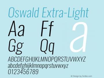 Oswald-Extra-LightItalic 3.0图片样张