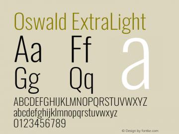 Oswald ExtraLight 3.0图片样张