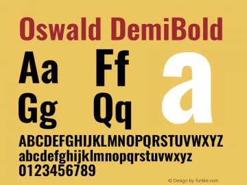 Oswald DemiBold 3.0图片样张