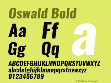 Oswald BoldItalic 3.0图片样张