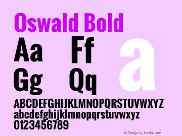 Oswald Bold Version 2.002图片样张