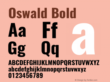 Oswald Bold 3.0图片样张