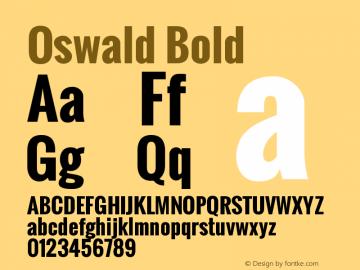 Oswald Bold Version 2.3图片样张