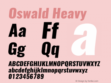 Oswald HeavyItalic 3.0图片样张