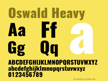 Oswald Heavy 3.0图片样张
