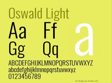 Oswald Light 3.0图片样张