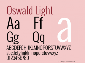Oswald Light Version 2.002图片样张
