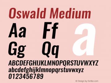 Oswald MediumItalic 3.0图片样张