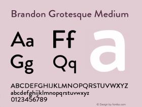 BrandonGrotesque-Medium Version 001.000图片样张