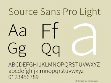 Source Sans Pro Light Version 1.050;PS 1.000;hotconv 1.0.70;makeotf.lib2.5.5900图片样张