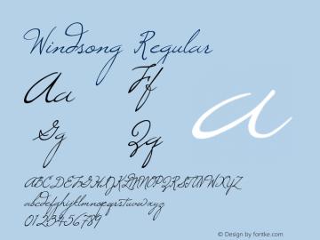Windsong Regular Macromedia Fontographer 4.1 8/5/98图片样张