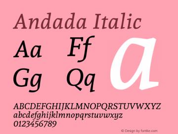 Andada Italic Version 1.003图片样张