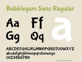 BubblegumSans-Regular Version 1.001图片样张
