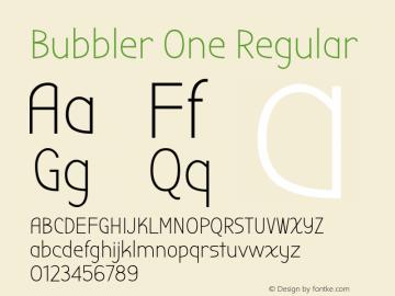 BubblerOne-Regular Version 1.001图片样张