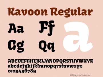 Kavoon Regular Version 1.002图片样张