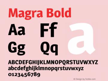 Magra Bold Version 1.001图片样张