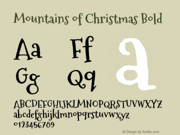 Mountains of Christmas Bold Version 1.002图片样张