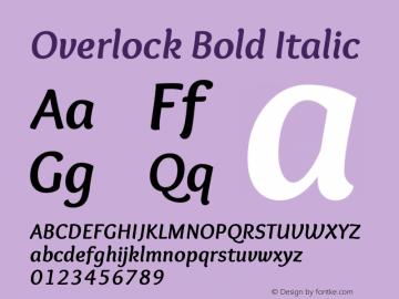 Overlock-BoldItalic Version 1.001图片样张