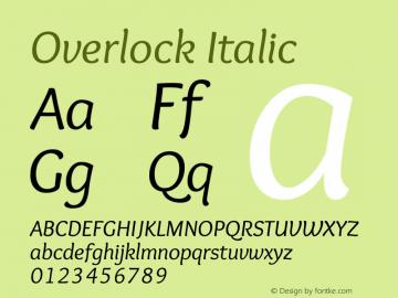 Overlock-Italic Version 1.001图片样张