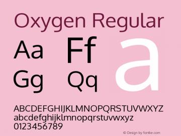 Oxygen Regular Version Release 0.2.3 webfont图片样张