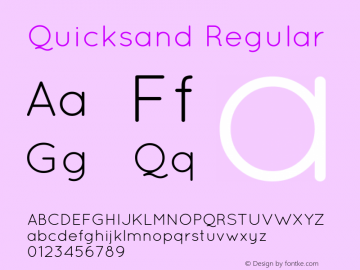 Quicksand Regular Version 001.001图片样张