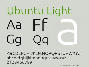 Ubuntu Light Version 0.80 Font Sample