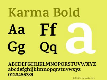 Karma Bold Version 1.202;PS 1.0;hotconv 1.0.78;makeotf.lib2.5.61930; ttfautohint (v1.1) -l 7 -r 28 -G 50 -x 13 -D latn -f deva -w G图片样张