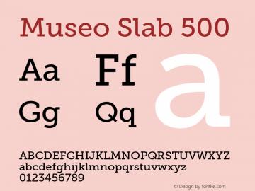 Museo Slab 500 Regular Version 1.000图片样张