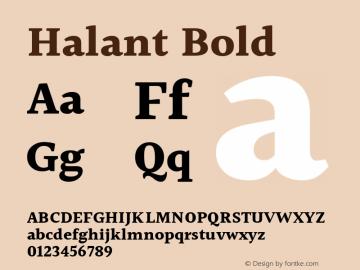 Halant Bold Version 1.101;PS 1.0;hotconv 1.0.78;makeotf.lib2.5.61930; ttfautohint (v1.1) -l 8 -r 50 -G 200 -x 14 -D latn -f deva -w gGD -W -c图片样张