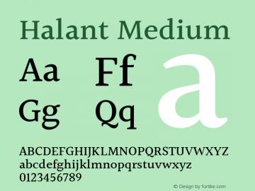 Halant Medium Version 1.101;PS 1.0;hotconv 1.0.78;makeotf.lib2.5.61930; ttfautohint (v1.1) -l 8 -r 50 -G 200 -x 14 -D latn -f deva -w gGD -W -c图片样张