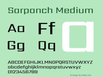 Sarpanch Medium Version 2.004;PS 1.0;hotconv 1.0.78;makeotf.lib2.5.61930; ttfautohint (v1.1) -l 8 -r 50 -G 200 -x 14 -D latn -f deva -w gGD -W -c图片样张