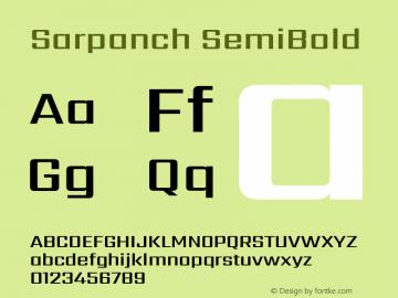 Sarpanch SemiBold Version 2.004;PS 1.0;hotconv 1.0.78;makeotf.lib2.5.61930; ttfautohint (v1.1) -l 8 -r 50 -G 200 -x 14 -D latn -f deva -w gGD -W -c图片样张
