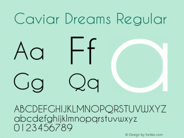 Caviar Dreams Regular Version 4.00 July 10, 2012图片样张