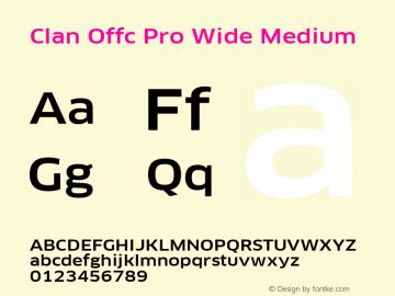 Clan Offc Pro Wide Medium Version 7.504; 2010; Build 1021图片样张