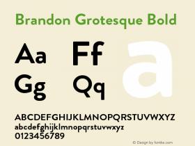 BrandonGrotesque-Bold Version 001.000图片样张