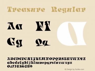Treasure Regular Macromedia Fontographer 4.1 5/6/96 Font Sample