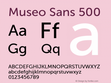 Museo Sans 500 Regular 1.000图片样张