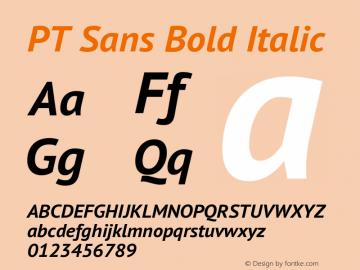 PT Sans Bold Italic Version 2.003图片样张