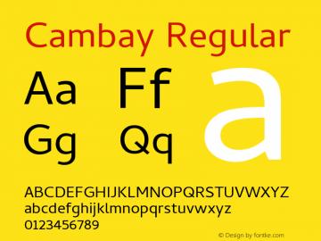Cambay Regular Version 1.181;PS 001.181;hotconv 1.0.70;makeotf.lib2.5.58329图片样张
