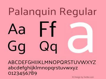 Palanquin Regular Version 1.0.4图片样张