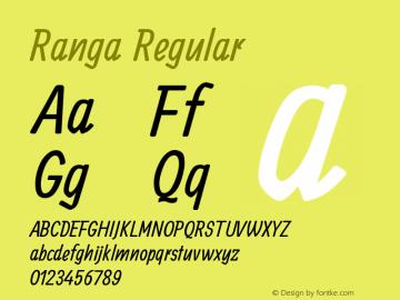 Ranga Regular Version 1.0.2图片样张